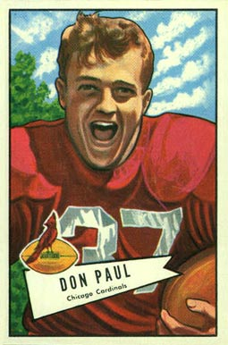 1952 Bowman Large Don Paul #103 Football Card