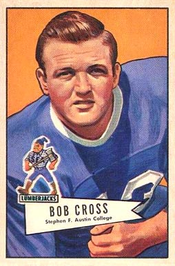 1952 Bowman Large Robert Cross #102 Football Card