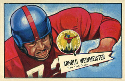 1952 Bowman Large Arnie Weinmeister #101 Football Card