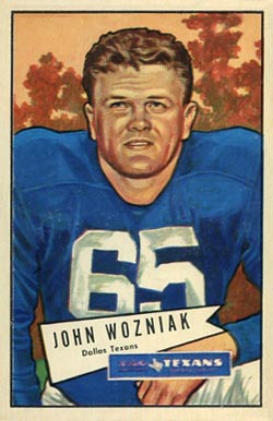 1952 Bowman Large John Wozniak #97 Football Card