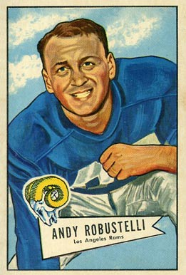 1952 Bowman Large Andy Robustelli #85 Football Card