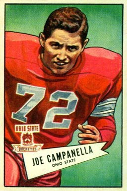 1952 Bowman Large Joe Campanella #74 Football Card