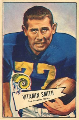 1952 Bowman Large Vitamin Smith #73 Football Card