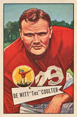 1952 Bowman Large Tex Coulter #71 Football Card