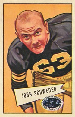 1952 Bowman Large John Schweder #72 Football Card