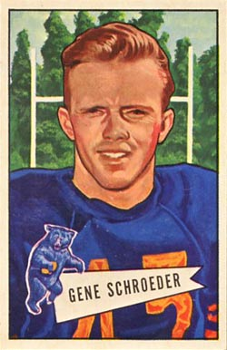 1952 Bowman Large Gene Schroeder #70 Football Card