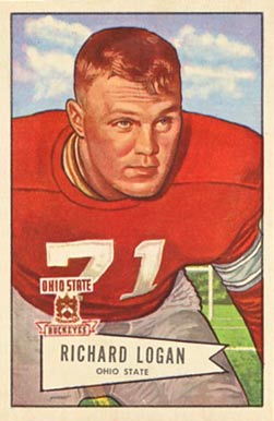 1952 Bowman Large Dick Logan #67 Football Card