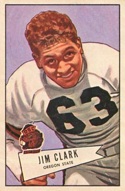 1952 Bowman Large James Clark #66 Football Card