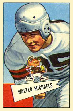 1952 Bowman Large Walt Michaels #62 Football Card