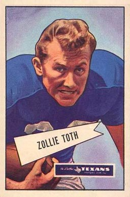 1952 Bowman Large Zollie Toth #58 Football Card