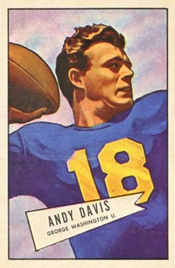 1952 Bowman Large Andy Davis #55 Football Card