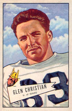 1952 Bowman Large Glen Christian #54 Football Card