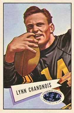 1952 Bowman Large Lynn Chandnois #20 Football Card