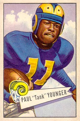 1952 Bowman Large Tank Younger #25 Football Card