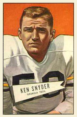 1952 Bowman Large Kenneth Snyder #22 Football Card