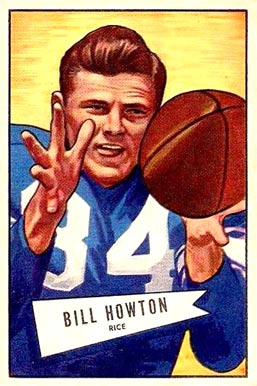 1952 Bowman Large Bill Howton #21 Football Card