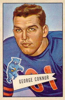 1952 Bowman Large George Connor #19 Football Card
