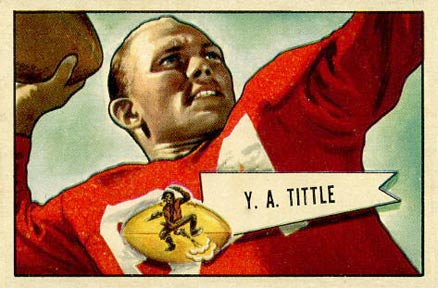 1952 Bowman Large Y.A. Tittle #17 Football Card