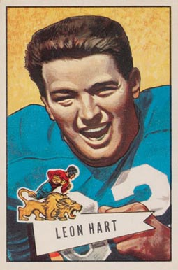1952 Bowman Large Leon Hart #15 Football Card