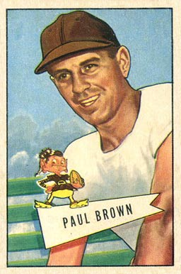 1952 Bowman Large Paul Brown #14 Football Card