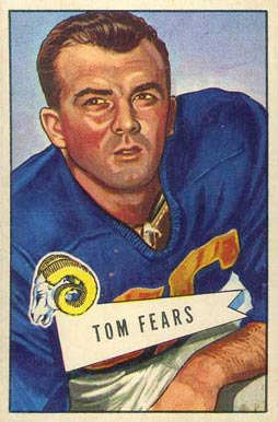 1952 Bowman Large Tom Fears #13 Football Card