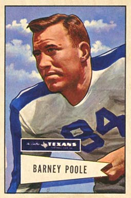 1952 Bowman Large Barney Poole #11 Football Card