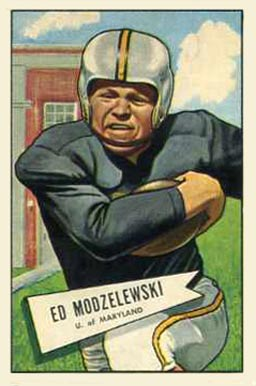 1952 Bowman Large Ed Modzelewski #8 Football Card