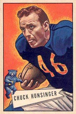 1952 Bowman Large Chuck Hunsinger #7 Football Card