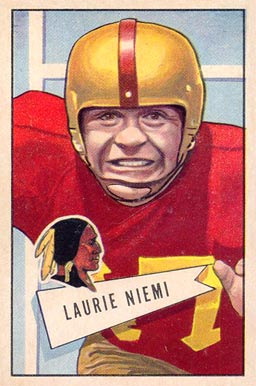 1952 Bowman Large Laurie Niemi #6 Football Card