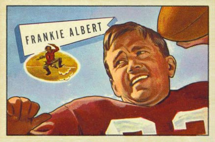 1952 Bowman Large Frankie Albert #5 Football Card