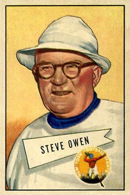 1952 Bowman Large Steve Owen #4 Football Card