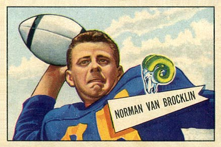 1952 Bowman Large Norm Van Brocklin #1 Football Card