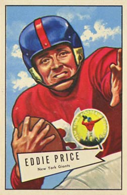 1952 Bowman Large Eddie Price #123 Football Card