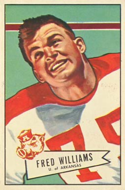 1952 Bowman Large Fred Williams #121 Football Card