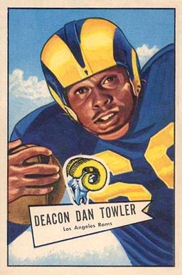 1952 Bowman Large Dan Towler #120 Football Card