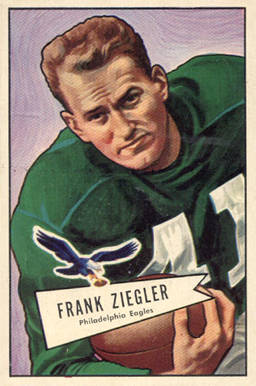 1952 Bowman Large Frank Ziegler #119 Football Card