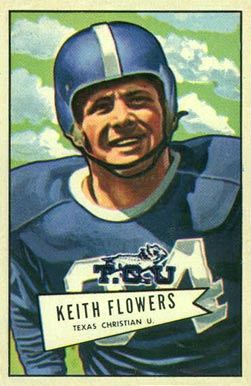 1952 Bowman Large Keith Flowers #115 Football Card