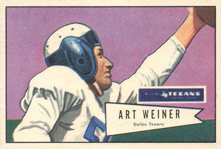 1952 Bowman Large Art Weiner #114 Football Card