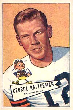 1952 Bowman Large George Ratterman #111 Football Card