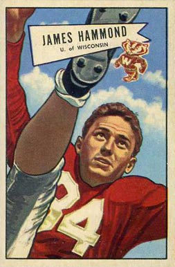 1952 Bowman Large James Hammond #69 Football Card
