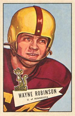 1952 Bowman Large Wayne Robinson #68 Football Card