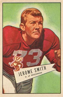 1952 Bowman Large Jerome Smith #65 Football Card