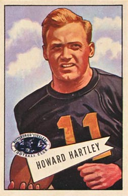 1952 Bowman Large Howard Hartley #64 Football Card