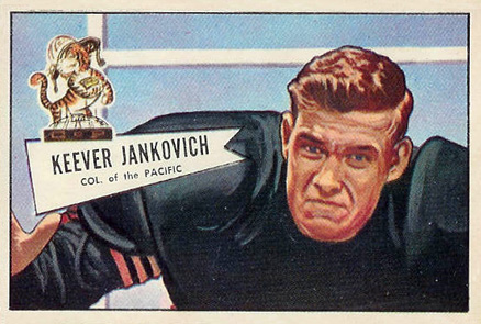 1952 Bowman Large Keever Jankovich #38 Football Card