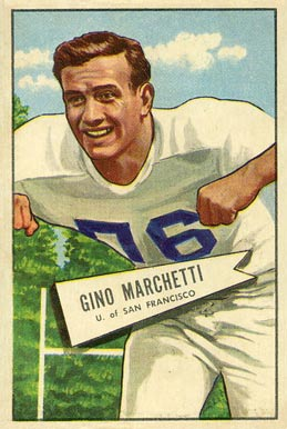 1952 Bowman Large Gino Marchetti #23 Football Card