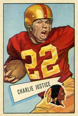 1952 Bowman Large Charlie Justice #18 Football Card