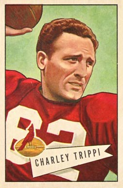 1952 Bowman Large Charley Trippi #12 Football Card