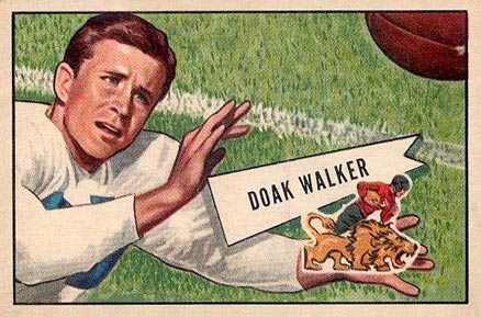 1952 Bowman Large Doak Walker #3 Football Card