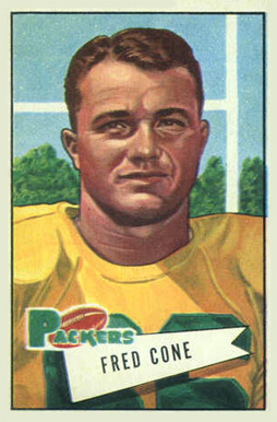 1952 Bowman Small Fred Cone #33 Football Card