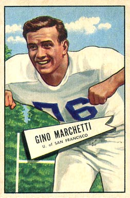 1952 Bowman Small Gino Marchetti #23 Football Card